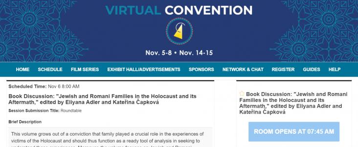 2020 ASEEES Online konference: Book Discussion – Židovské a romské rodiny během holokaustu a po něm