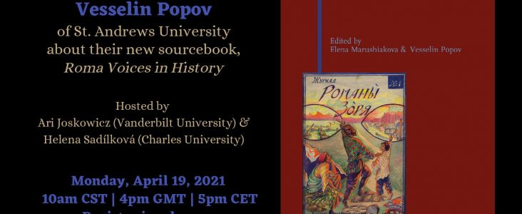 Conversation with Elena Marushiakova & Vesselin Popov about their new sourcebook – Roma Voices in History