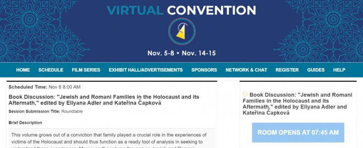 2020 ASEEES Virtual Convention: Book Discussion – Jewish and Romani Families in the Holocaust and its Aftermath