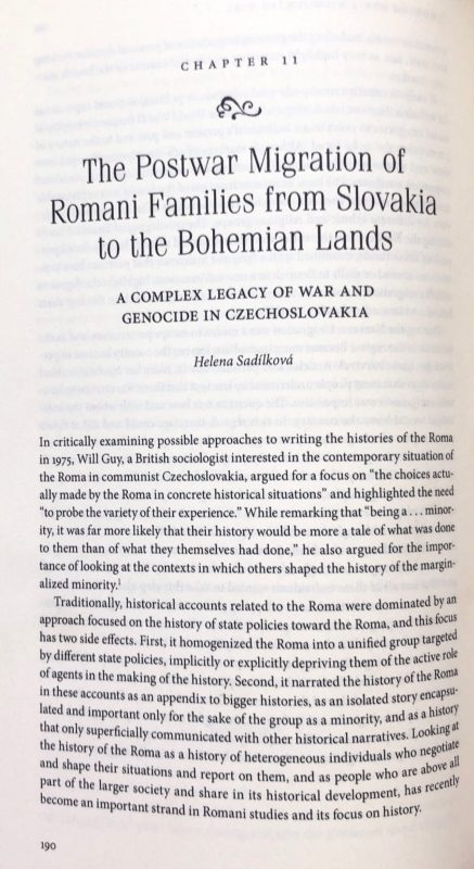 Postwar migration of Romani Families from Slovakia to Bohemian Lands: A Complex Legacy of War and Genocide