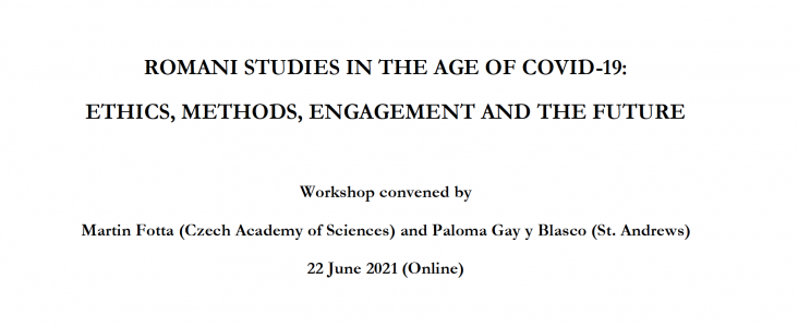 Workshop: Romani Studies in the Age of Covid-19 – Ethics, Methods, Engagement and the Future